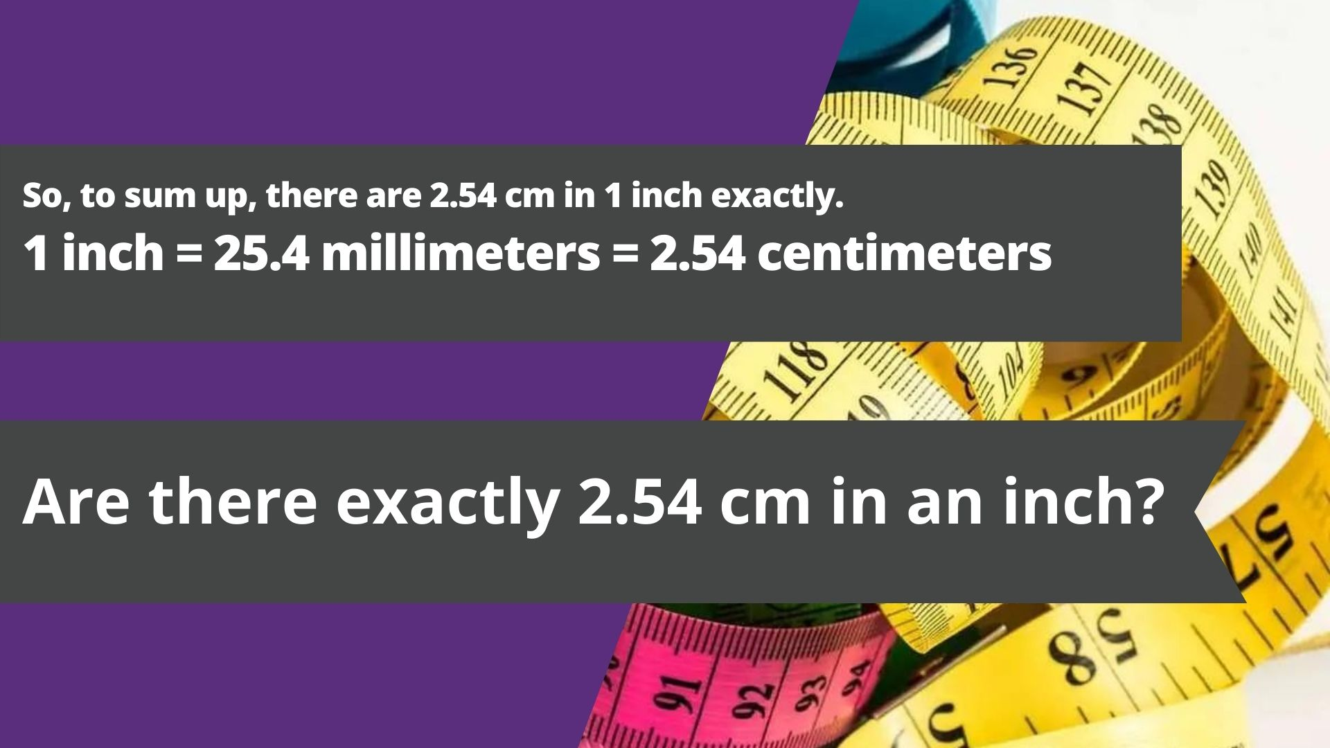 Are there exactly 2.54 cm in an inch?
